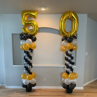Anniversary Balloon Columns