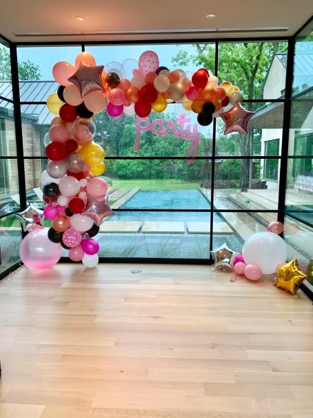 Organic Garland Balloon Graduation Party